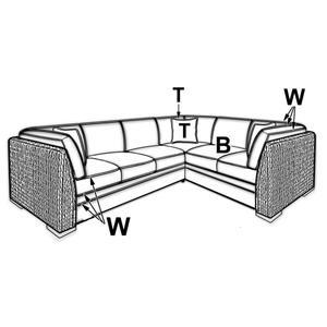 Capris Furniture - 725 SECTIONAL PIECES