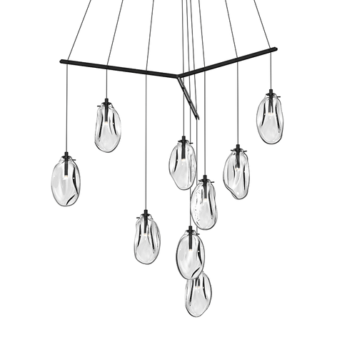 Liquid 9-Light Tri-Spreader LED Pendant