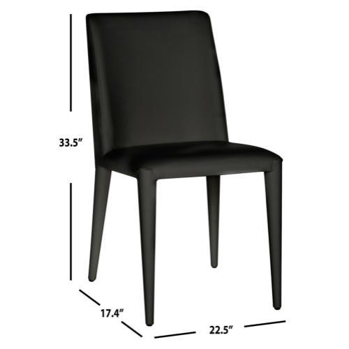 Garretson 18'' Leather Side Chair - Black
