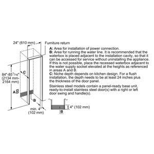 Built-In Panel Ready Freezer Column 24'' T24id905rp