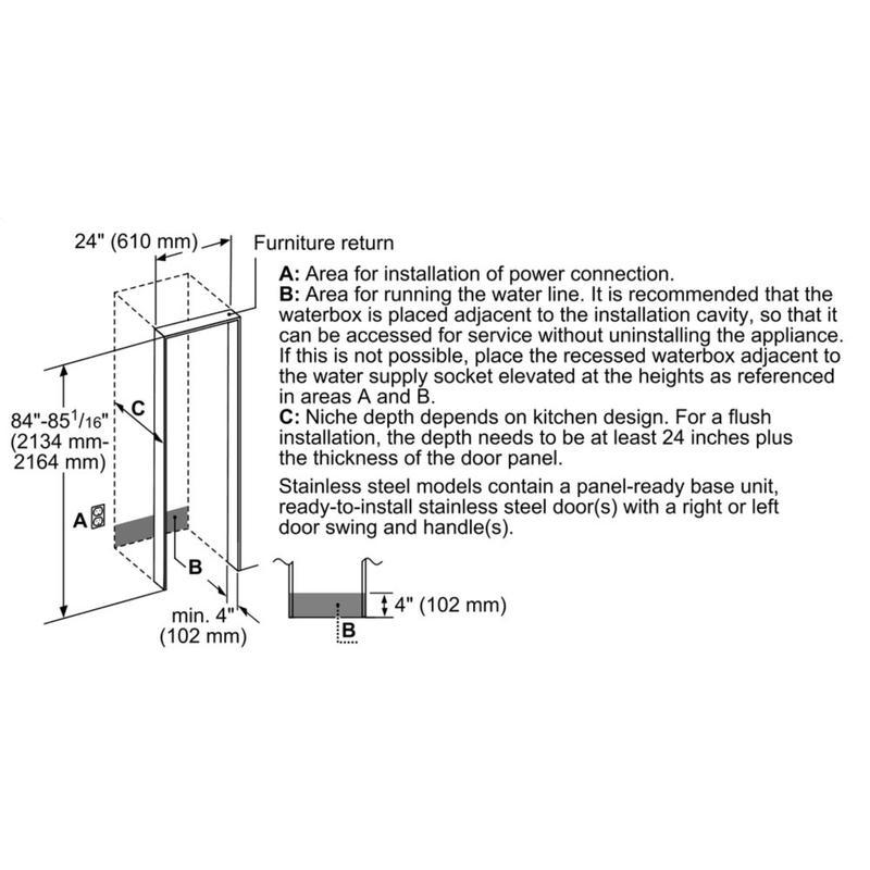 Built-in Panel Ready Freezer Column 24'' T24ID905LP