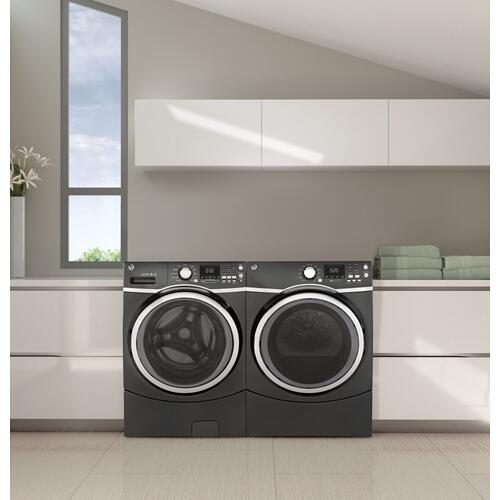 GE Appliances - GE® 7.5 cu. ft. Capacity Front Load Electric Dryer with Steam