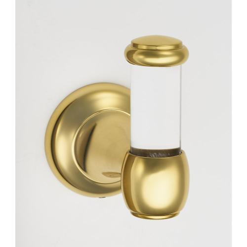 Acrylic Royale Robe Hook A7381 - Unlacquered Brass