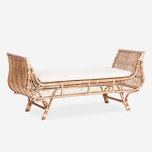 Maia Rattan Lounge Bench with Cushion