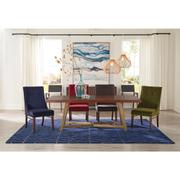 Mix-n-match Chairs - Navy Velvet Side Chair - Hazelnut Finish Product Image
