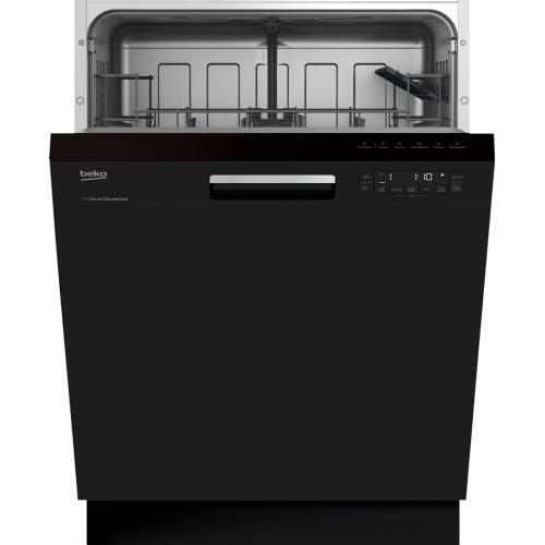 Black Front Control, Pocket Handle Dishwasher, 5 Programs, 48 dBA
