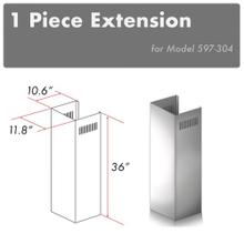 "ZLINE 1-36"" Chimney Extension for 9 ft. to 10 ft. Ceilings (1PCEXT-597-304)"