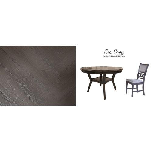 Gia 5 Pc Gray Dinette Set by New Classic D1701-50
