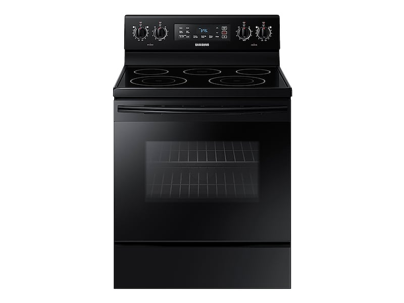 5.9 cu. ft. Freestanding Electric Range with Two Dual Power Elements in Black
