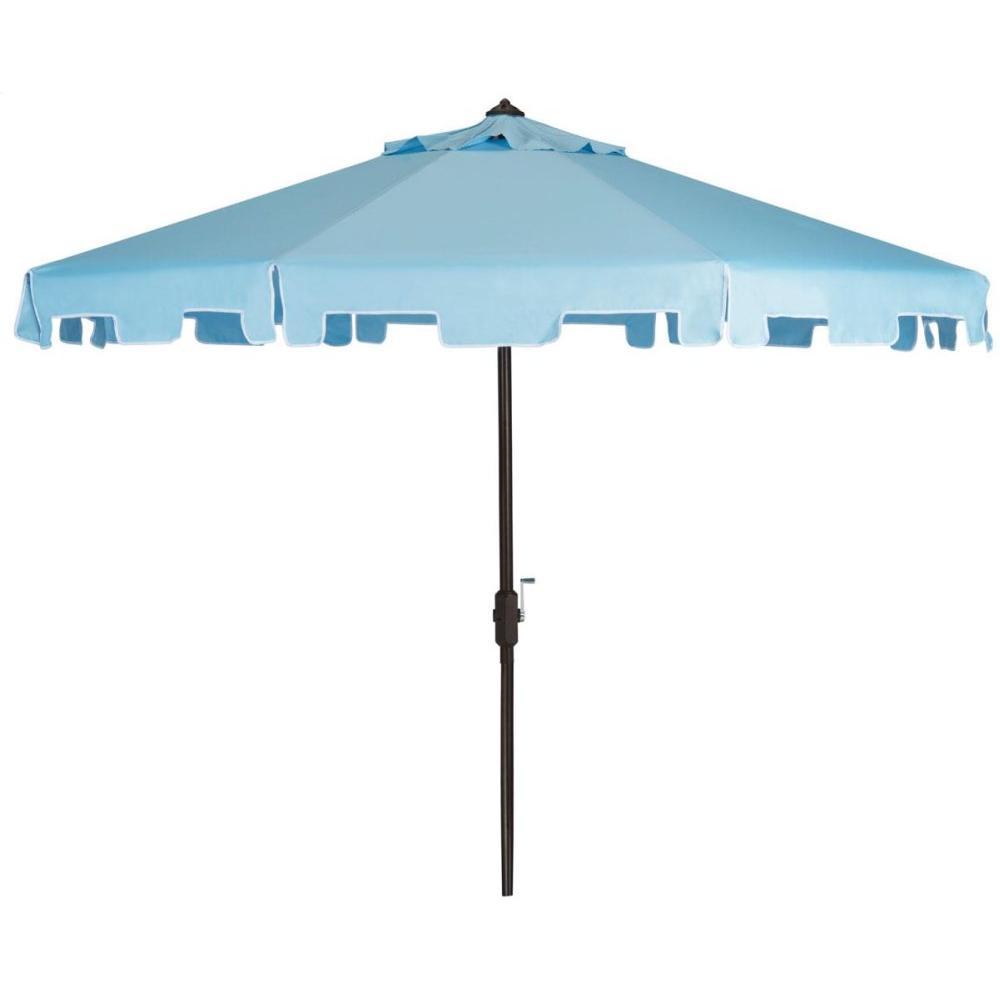 Zimmerman 9 Ft Crank Market Umbrella With Flap - Blue