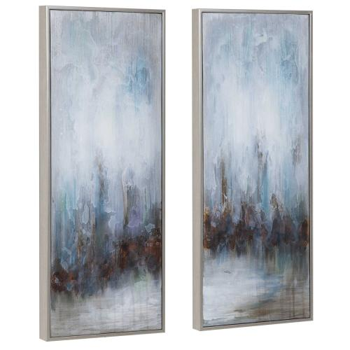 Rainy Days Hand Painted Canvases, S/2