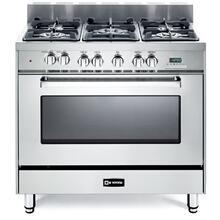"36"" Dual Fuel Single Oven Range Stainless Steel 4"" B/G"