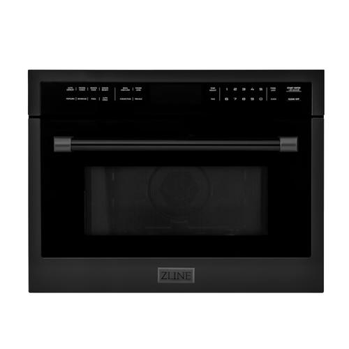 """Zline Kitchen and Bath - ZLINE 24"""" Built-in Convection Microwave Oven in Stainless Steel with Speed and Sensor Cooking (MWO-24) [Color: Black Stainless Steel]"""