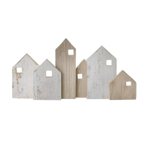 "9.75""x 1.25""x 4.75"" Wood Village Collection (Village Option)"