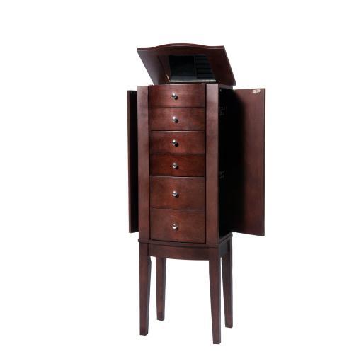 6-drawer Jewelry Armoire, Merlot