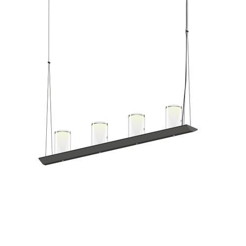 "Sonneman - A Way of Light - Votives LED Bar Pendant [Size=3', Color/Finish=Satin Black, Shade Size=4.5"" height x 2.75"" diameter]"