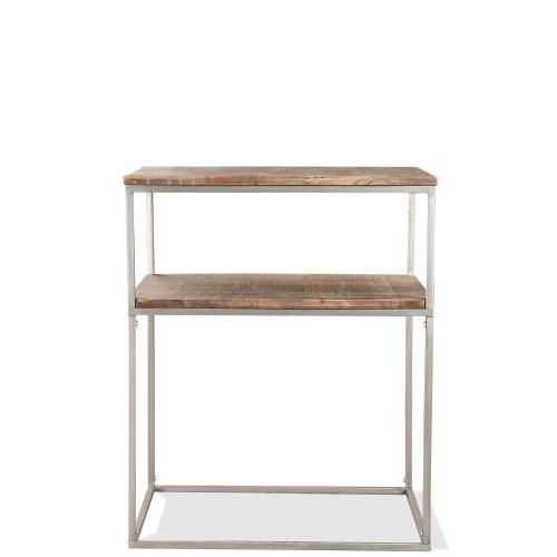 Square Side Table - Brindled Fawn Finish