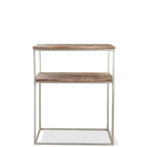 Riverside - Square Side Table - Brindled Fawn Finish
