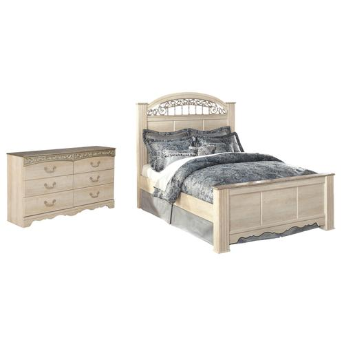 King Poster Headboard With Dresser