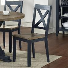 X Back Side Chair- Navy (RTA)