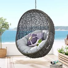 Hide Sunbrella® Fabric Swing Outdoor Patio Lounge Chair Without Stand in Gray Gray