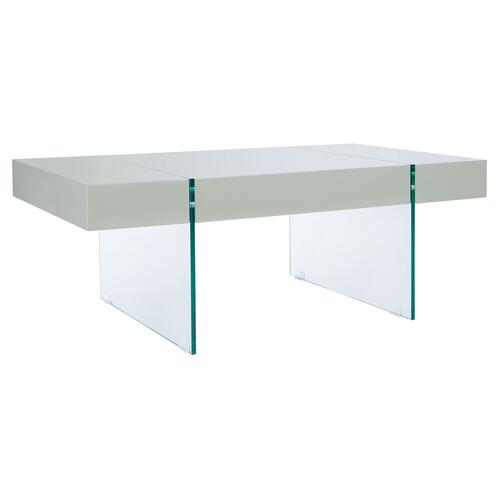 Safavieh - Jacob Rectangular Glass Leg Modern Coffee Table - Grey