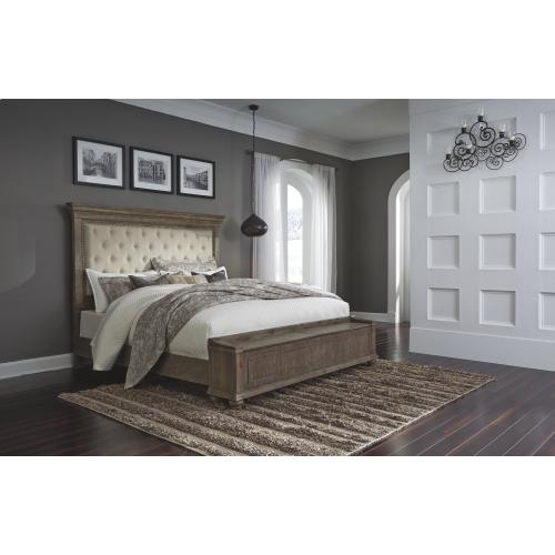 Johnelle California King Upholstered Panel Bed With Storage
