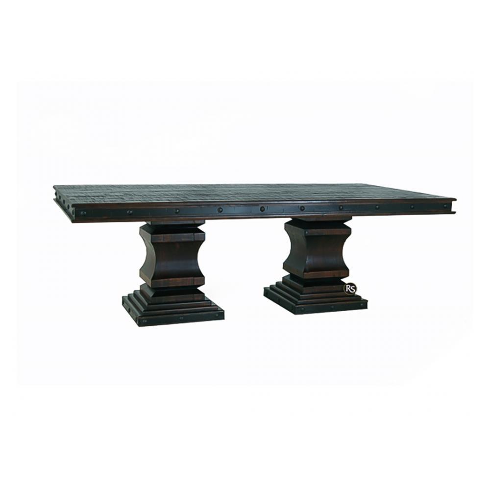 "See Details - Gran Hacienda 96""x48"" Double Pedestal Table"