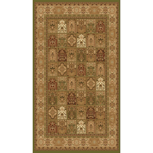 """Persian Design 1 Million Point Heatset Monalisa A Area Rugs by Rug Factory Plus - 2' x 7'5"""" / Green"""