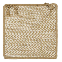"""View Product - Outdoor Houndstooth Tweed Chair Pad OT89 Cuban Sand 15"""" X 15"""" (Single)"""