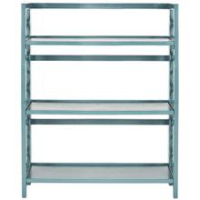 See Details - Natalie 3 Tier Low Bookcase - Teal