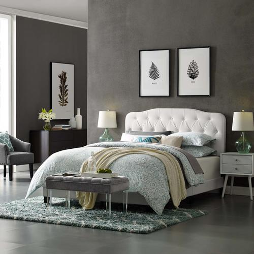 Modway - Amelia Twin Faux Leather Bed in White