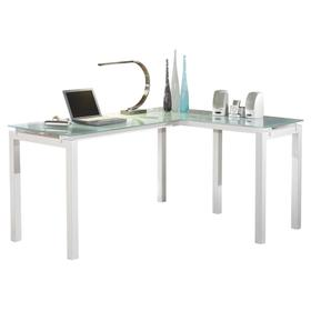 Baraga L-Desk White