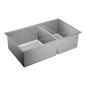 """1600 Series 34""""x20"""" stainless steel 16 gauge double bowl sink Product Image"""