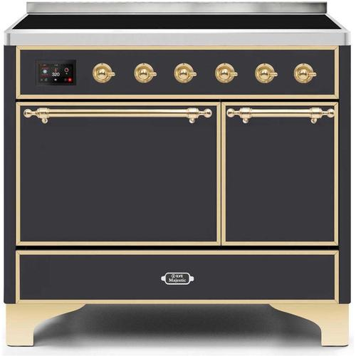 40 Inch Matte Graphite Electric Freestanding Range