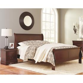 King Sleigh Bed With 2 Nightstands