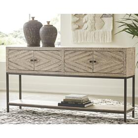 Roanley Console Sofa Table Distressed White