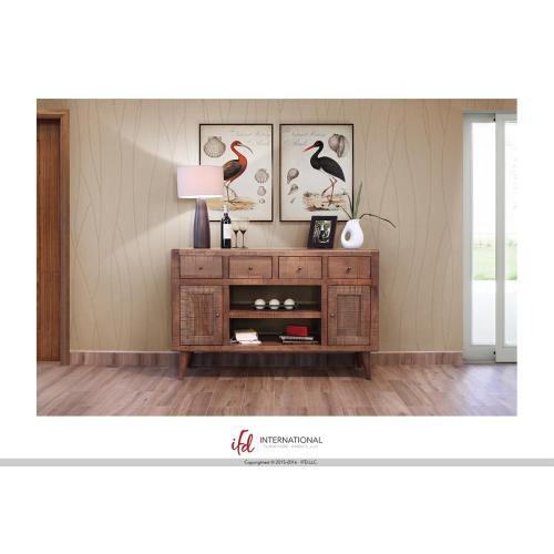 "Artisan Home Furniture - 55"" TV-Stand w/4 Drawers, 2 Doors & 2 Shelves"