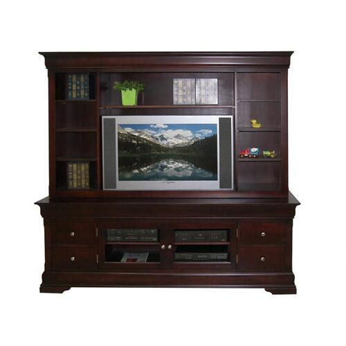 "Handstone - Phillipe 84"" HDTV Cabinet with Hutch"