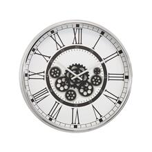 See Details - Black and White Gear Clock