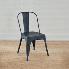 Bow Back Side Chair- Navy