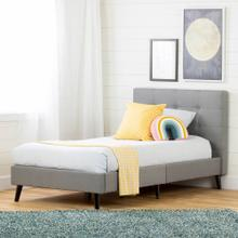 Upholstered Platform Bed and Headboard - 39''