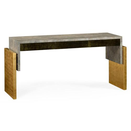 Rectangular console table with drawers