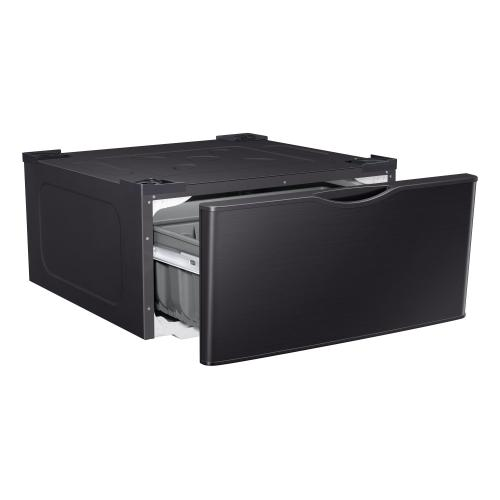 """Pedestal for 27"""" Front Load Washer & Dryer in Black Stainless Steel"""