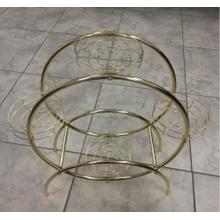 BRASS 2-CIRCLE PLANT STAND
