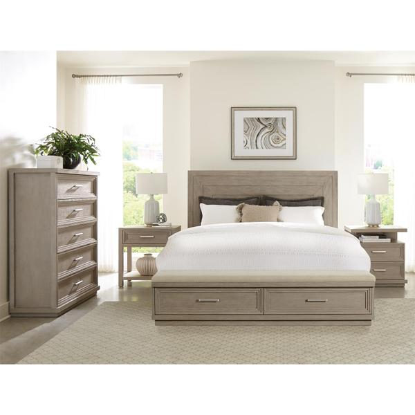 See Details - Cascade - King Upholstered Storage Footboard - Dovetail Finish