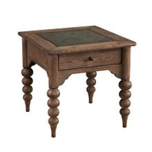 Emerald Home Bern End Table W/drawer-embossed Top-turned Legs Mist T384-01
