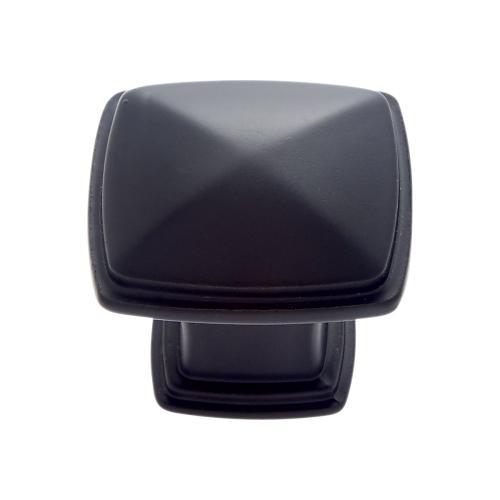Matte Black 32 mm Square Knob