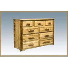 Glacier Country Log 9 Drawer Dresser