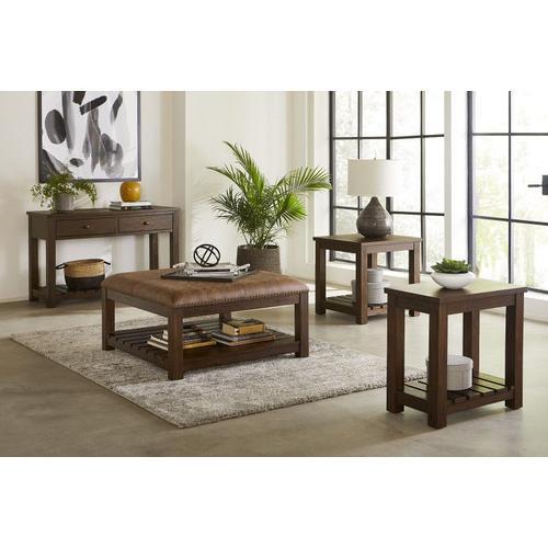 Standard Furniture - Highlands End Table, Brown